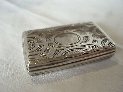 Match Box Mid-Victorian Sterling Silver Birmingham 1857
