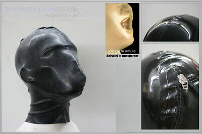 ----- LATEXTIL ----- BreathRegulate_BLACK - Latexmaske mask rubber -  NEW