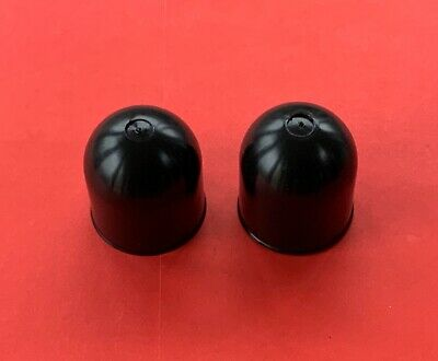 2 x BLACK Plastic Tow Ball Cover /Cap/Protector 50mm for Swan Neck or Flange NEW