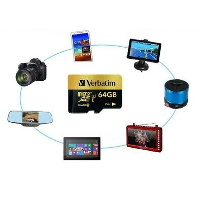 VERBATIM MICRO SD Card 512GB with Free USB reader and SD
