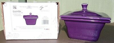 MULBERRY Fiesta Fiestaware Square Covered Candy Dish Mint & 1st Quality In Box !