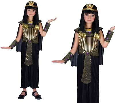 Childs Egyptian Queen Fancy Dress Costume Cleopatra Book Day Outfit Age 3-13