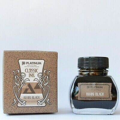 Tinta Platinum Classic Ink Khaki Black Fraso 60 Ml.