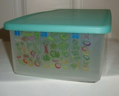 Tupperware Fridge Smart Produce Vegetable Rectangle Container Green Seal 4352A-1