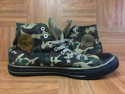 VTG🔥 Converse Chuck Taylor All Star Hi Army Military Camo Olive Green Sz 12
