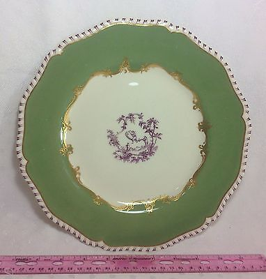 Lot Of 5 Royal Worcester Porcelain China Chinese Chippendale Dinner Plates