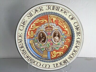 """1935 King George V and Queen Mary SILVER JUBILEE Paragon China 10 1/2"""" PLATE"""