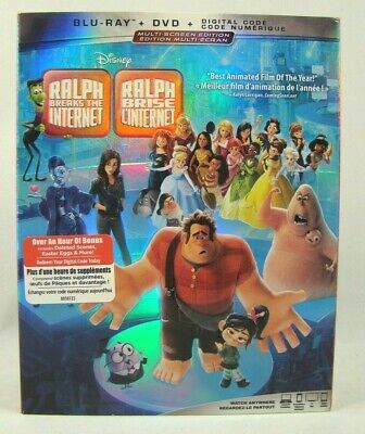 Ralph Breaks the Internet (Blu-ray + DVD + Digital) with Slipcover  New sealed !