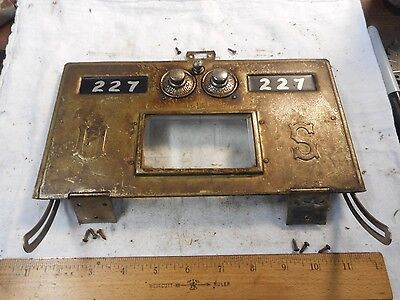 1886 Keyless Lock Co Rolled Brass Post Office Door Size #3 Bevel Glass Ni Plated