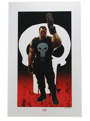 Sideshow Collectibles Punisher Brutal Justice Premium Art Print Marvel Sample