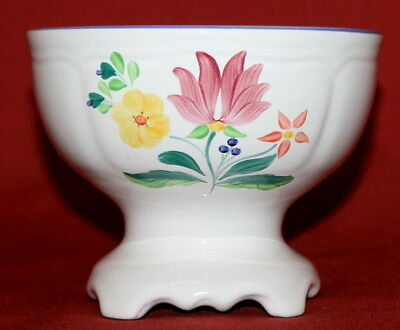 Vintage Hungarian Hand Painted Glazed Redware Pottery Bowl