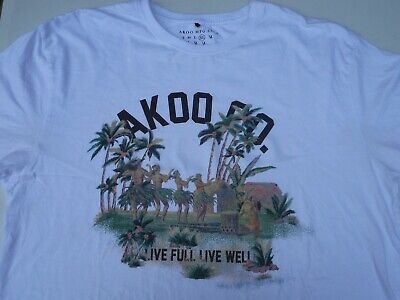56994c38 AKOO MEN'S 100% Cotton T-Shirts by T.I. Size NWT MSRP $34 - $15.88 ...