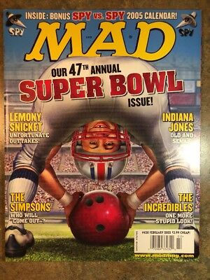 Mad Magazine February 2005 #440 Super Bowl Simpsons Incredibles - Satire Humor