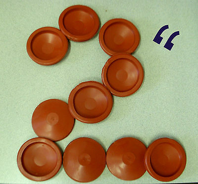 """2 Red RUBBER STOPPER for Piggy Banks Fits TWO INCH Hole 2""""  - BUY ALL YOU NEED!"""