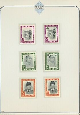 Indonesia Specialized Album Page LOT #12 - SEE SCAN - $$$