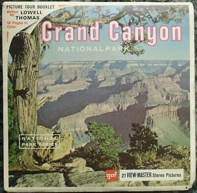 3 View-Master 3D Bildscheiben - Grand Canyon National Park + Booklet