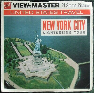 3 View-Master 3D Bildscheiben - New York City | Sightseeing Tour + Booklet