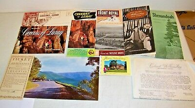 Vintage 1962 State Of Virginia Travel Brochures Caverns of Luray, Shenandoah LOT