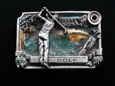 Rf07104 Vintage 1983 **The Great Sport Of Golf** Commemorative Belt Buckle