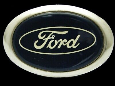 PD17113 VINTAGE 1970s **FORD** MOTOR COMPANY AUTO CAR SILVERTONE BELT BUCKLE