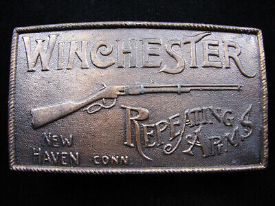RH09102 *NOS* VINTAGE 1970s **WINCHESTER REPEATING ARMS** GUN BELT BUCKLE