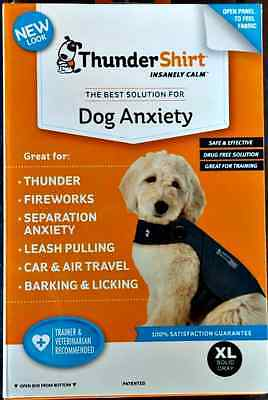 THUNDERSHIRT DOG ANXIETY BEHAVIOR TRAINING GRAY SIZE XL 65-110 lbs NEW RET $55