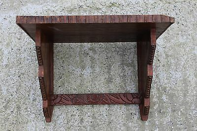 Antique Sculpted Carved Wooden Wall Rack Shelf Display #794