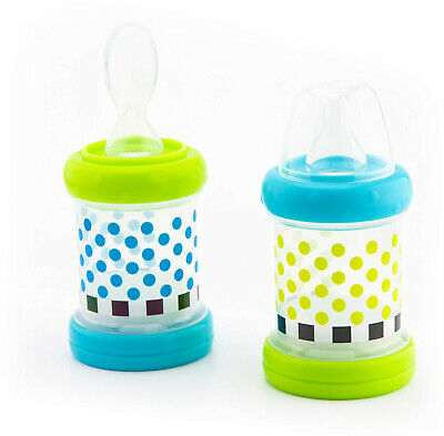 Sassy Baby Food Nurser – 6+ Months Set Of 2-4oz 100% Silicone Nipple And Spoon H