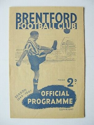BRENTFORD v SHEFFIELD UNITED 1946/1947 *Exc Cond Boxing Day Football Programme*