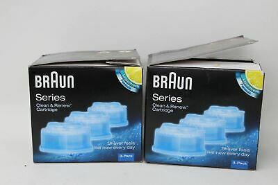 BRAUN Clean & Renew CCR3 Electric Shaver Refill Cartridges 3 Pack 2x NEW