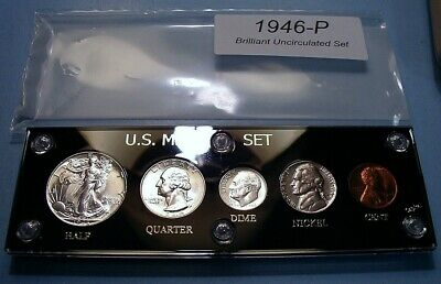 1946 MINT SILVER SET U.S. COINS CHOICE to GEM BRILLIANT UNCIRCULATED SUPER NICE