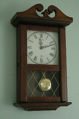 Antique Reproduction Avalon Wood Quartz Wall Clock.