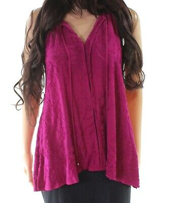 dc10342c7b542 Cupio NEW Pink Women s Large L Textured High Low V-Neck Tank Cami Top  58