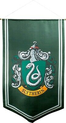 Artwork & Wall Pieces--Harry Potter - Slytherin Satin Banner