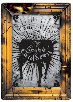 Artwork & Wall Pieces--Harry Potter - Leaky Cauldron Small Tin Sign