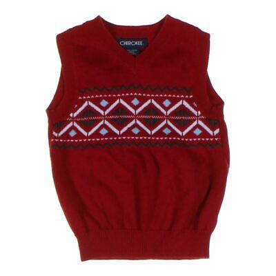 Cherokee Baby Boys Vest, size 24 mo,  red,  cashmere, cotton