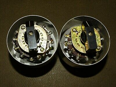Pair,  Western Electric Type KS 13633 Switches/Attenuators, for Tube Audio