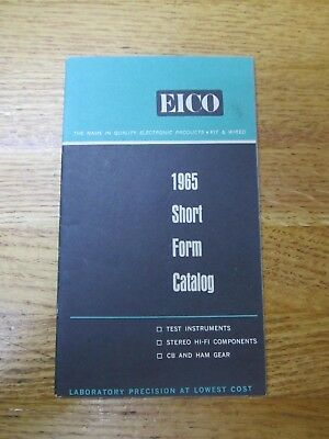 Vintage 1965 Eico Short Form Catalog Electronic Products Stereo Cb Ham Gear