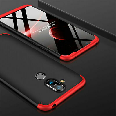 For Nokia 8.1 /X7, Luxury Full Cover Shockproof 3in1 Hybrid Armor PC Hard Case