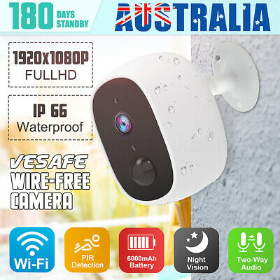 100% Wire-free Camera Security WiFi Battery IP PIR Cam Night Vision 720P/1080P