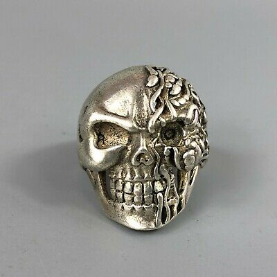 Chinese Antique Old Tibet Silver Handwork Collectible Netherfiend No.11.5 Ring
