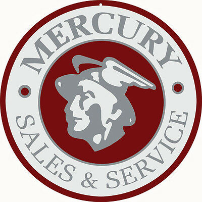 Mercury Sales & Service Round Motor Oil And Gas Station  Sign