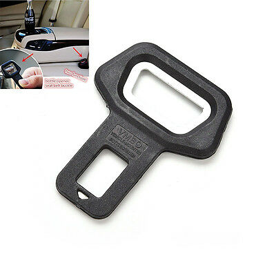 2x Universal Auto car safety seat belt buckle alarm stopper clip clamp Black J&S