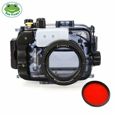 Seafrogs 60m/195ft Underwater Camera Housing for Sony A6000 A6300 A6500 16-50mm
