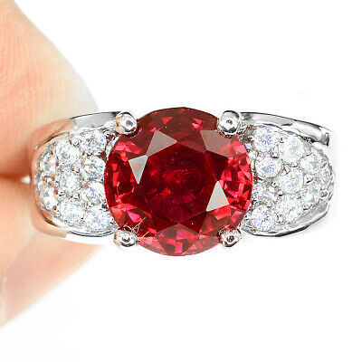 Gemstone Red Jasper 925 Sterling Silver Ring 6.5 59
