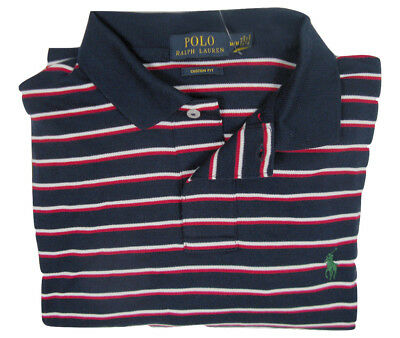 NEW Polo Ralph Lauren Striped Polo Shirt!  6 Colors  Interlock Cotton Custom Fit