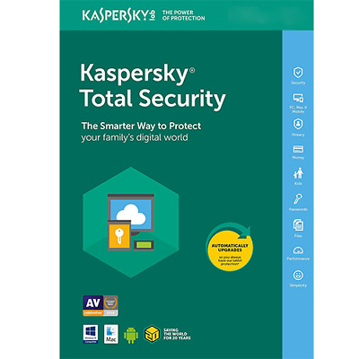 Kaspersky Total Security 2019 pc/devices 1 year Windows/MAC Antivirus official