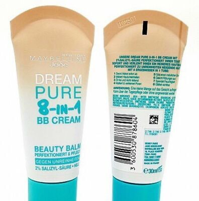*Maybelline Dream Pure BB 8in1 Beauty Balm Light/Hell*