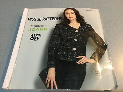 VOGUE  Sewing Pattern Counter Catalog WINTER HOLIDAY 2018 - LARGE Fashion Book