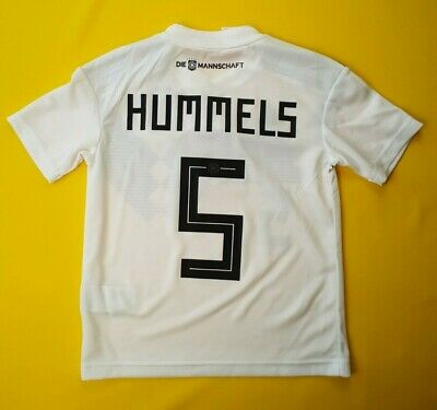 b566d231a 5 5 Hummels Germany kids jersey 7-8 years 2018 home shirt soccer football